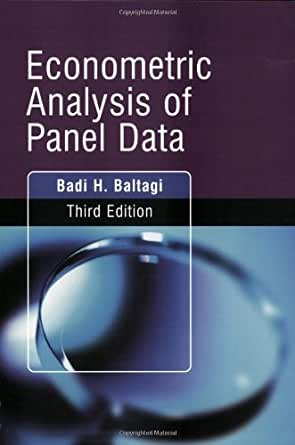 1 baltagi econometric analysis of Splm: econometric analysis of spatial panel data giovanni  1 dises, university  of trieste 2 generali research and development 3 geoda  of baltagi et al.