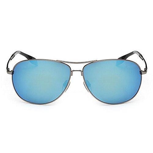 de Couleur Blue Hommes Lunettes aviateur Soleil Polarisés 400 de de en UV Cadre Bleu Yxsd Métal par Clair Protection ZaBwxx