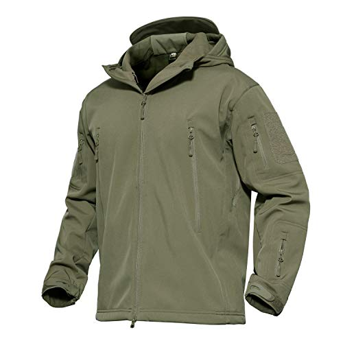 Men's Windproof Waterproof Jacket Mountain Durable Combat Coat Army Green