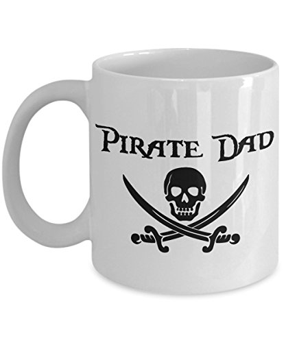Pirate Dad 11 oz Mug Great Gift for Cruise Night and Fish Extenders (Christmas Album Wars 2017 Star)