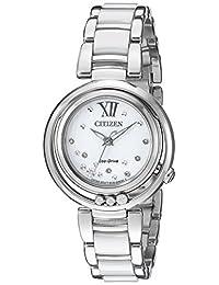 Citizen Women's L Sunrise EM0320-83A Wrist Watches, White Dial