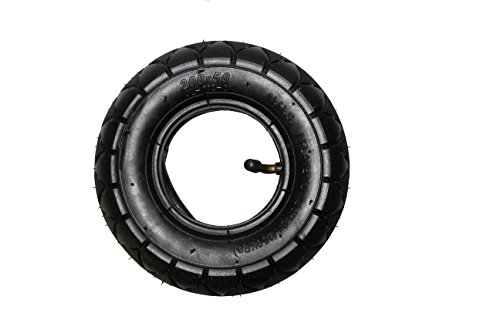 FDJ 200x50 (8'x2') Electric & Gas Scooter Tire Razor ePunk Tire & Inner Tube Set for E100 & E200 Scooters