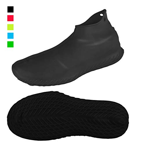 LEGELITE Reusable Silicone Waterproof Shoe Covers, No-Slip Silicone Rubber Shoe Protectors for Kids,Men and Women (Best Rubber Shoes For Men)