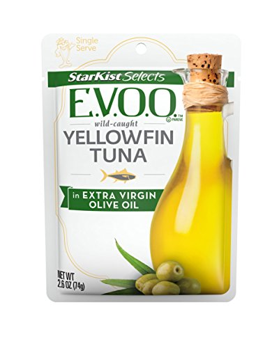 StarKist Selects Yellowfin Tuna in Extra Virgin Olive Oil, 2.6 Ounce Pouch (Pack of 24) (Genova Tuna)