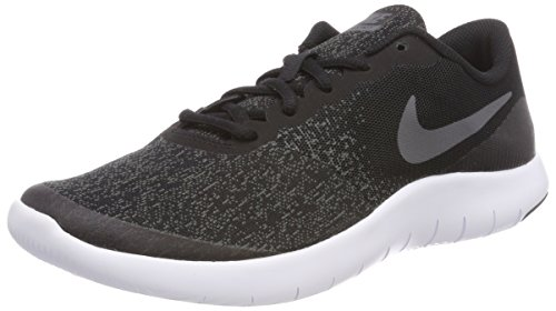 (NIKE Kids Flex Contact (GS) Running Shoes (7 Big Kid M, Black Drk Gry Anthracite White))