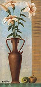Oil painting 'Lilies and Fruits' printing on high quality polyster Canvas , 18x38 inch / 46x97 cm ,the best Kitchen gallery art and Home decoration and Gifts is this Imitations Art DecorativeCanvas Prints