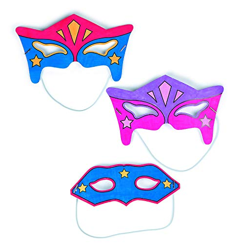 Make Your Own Halloween Mask Game (Fun Express Color-Your-Own Superhero Masks (24)