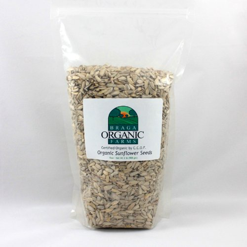 Braga Organic Farms Sunflower Kernels, 2 Pound