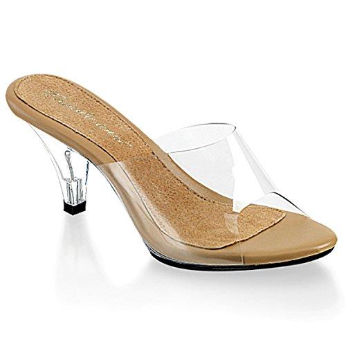 Fabulicious BELLE-301 Women Sandal, Clr-Tan/Clr, Size -8