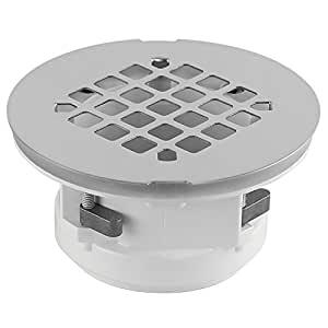 WingTite Replacement Shower Drain, Easy to Install, Chrome, 4.25-Inches L x 4.25-Inches W x 2-Inches H