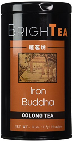 Brightea® China Famous Monkey Picked Vintage Oolong Tea (Wulong / Wu Long) - Chinese Fujian Anxi High Mountain Tie Guan Yin Iron Mercy Goddess (Iron Buddha / Tieguanyin / Ti Kuan Yin / Tikuanyin) Loose Leaf 4.1 Ounce Tin (Supreme Grade AAAAA)