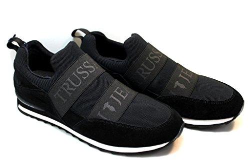 Trussardi Jeans Trussardi - Zapatillas Para Deportes de Exterior Para Hombre Blanco Blanco/Azul 41 Blanco Size: 46 nAlSta