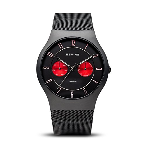 BERING Time 11939-229 Mens Titanium Collection Watch with Mesh Band and Scratch Resistant Sapphire Crystal. Designed in Denmark.