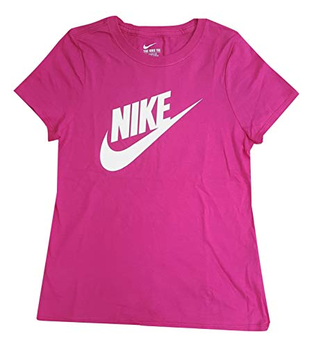 Price comparison product image NIKE Girl's Swoosh Azalea/White/ Graphic T-Shirt AI5664-616 (Medium)