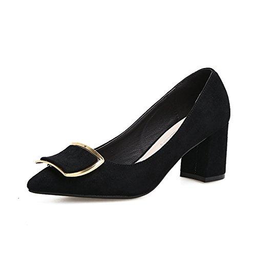 Mujer Tacones Negro Punta Luz De Y GAOLIM Audaz Alto La Boquilla Con 8Cm La Zapatos Mujer Negro Tacón De Altos Singles Zapatos De De De 6 Femeninos Elegante Corbata Zapatos Zapatos 11CqAw4