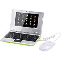 Atoah®7 Inch Mini Netbook VIA8880 Android 4.4.2Jellybean Laptop Computer 512/4GB Storage Wifi HDMI with Good Gift for Children(Green)