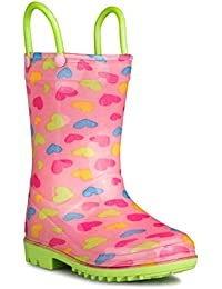 Children's Rain Boots with Handles, Little Kids & Toddlers, Boys & Girls