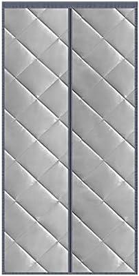 Cortina Termica Exterior, Cortina Puerta Hogar Partición Adecuado Aislamiento Acústico Anti-Frio, para Puertas Correderas, de Patio -Gray-170x210CM: Amazon.es: Hogar