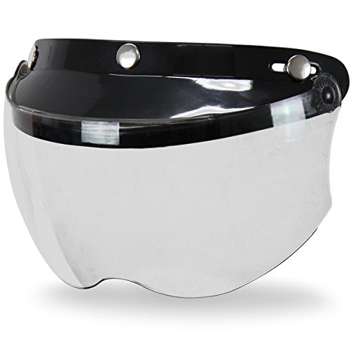 nap-Button Visor with Flip-up Clear Shield - One Size (Snap Visor)