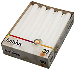 Taper Candles 10 In. (30, White)