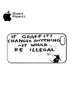 Banksy Graffiti Would Be Illegal Mobile Cell Phone Case Cover iPhone 4&4s Black