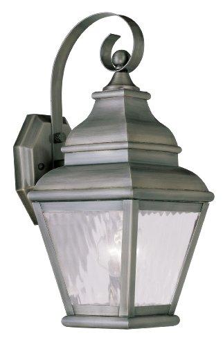 Livex Lighting 2601-29 Exeter 1-Light Outdoor Wall Lantern, Vintage Pewter