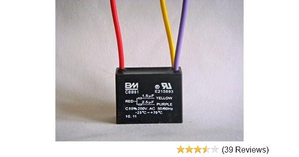 Bm ceiling fan capacitor 3 wire 15uf 25uf ceiling fan bm ceiling fan capacitor 3 wire 15uf 25uf ceiling fan accessories amazon keyboard keysfo Choice Image