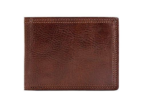 Bosca Mens 8 Pocket - Bosca Men's Old Leather Dolce 8 Pocket Deluxe Executive Wallet (Dark Brown)