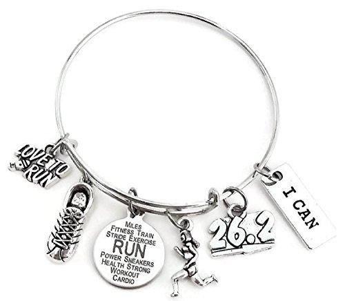 Running bracelet, Running jewelry, 26.2 Marathon bracelet, 26.2 bracelet, Marathon bracelet, Runner gift, Running gift, Marathon gift, Running bangle bracelet, 26.2 Marathon bangle bracelet