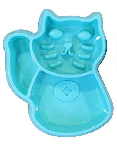 Katzy Kraft Fun Slow Feed Interactive Pet Bowl Dog Cat Stop Bloat Choking Food Water (Aqua)