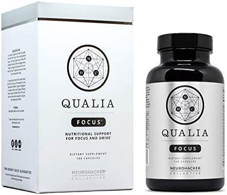 Qualia Focus Nootropics The Brain Supplement for Focus, Supporting Memory, Mental Clarity, Energy, Reasoning, and Concentration with Ginkgo biloba, Bacopa monnieri, Celastrus, Rhodiola rosea More