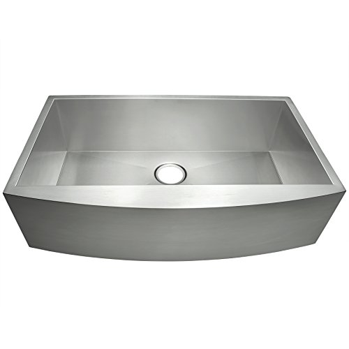 GV Farmhouse Undermount Handmade Stainless Steel Kitchen Sink 30-inch Single Bowl Basin 30 x 20 x 9 with 3.5 Drain Opening