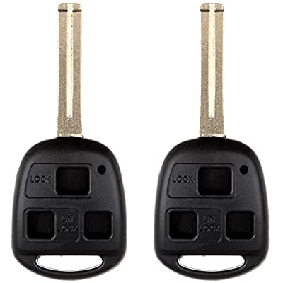ECCPP 2PCS Uncut Blade Keyless Entry Remote Fob Case Shell Replacement fit for Lexus Series HYQ12BBT HYQ1288T HYQ1512: Automotive