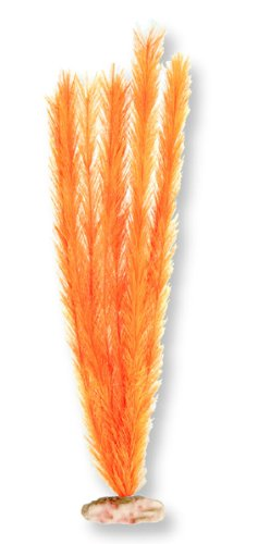 - Vibran-Sea Soft Foxtail Silk-Style Aquarium Plant, Medium 9-10 tall, Brite Orange