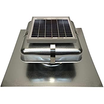 Solar Roof Vent - Solar Attic Fan - Solar RoofBlaster with Galvanized Vent