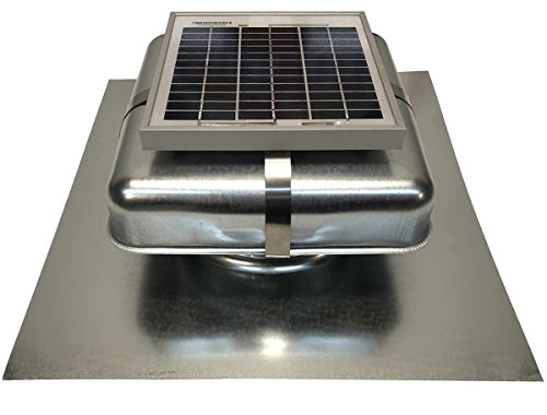 (Solar Roof Vent - Solar Attic Fan - Solar RoofBlaster with Galvanized Vent)