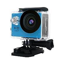 Mini Sports HD Action Camera DV A9 1080P 30M Waterproof Underwater Camera 120°Wide-angle Lens H.264 Helmet Cam (Blue)