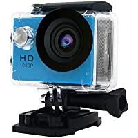30M Waterproof Sport DV-Mini Sports 1080P HD Action Camera A9 120°Wide-angle Lens for Free Accessories Kit and Waterproof Case (Blue)