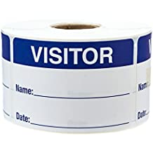 500 Visitor Pass/Identification Labels Stickers/Easy to Write On
