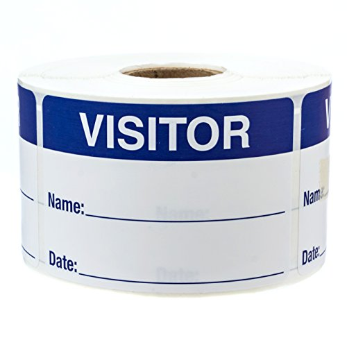 500 Visitor Pass/Identification Labels Stickers/Easy to Write On by SBlabels (Image #5)
