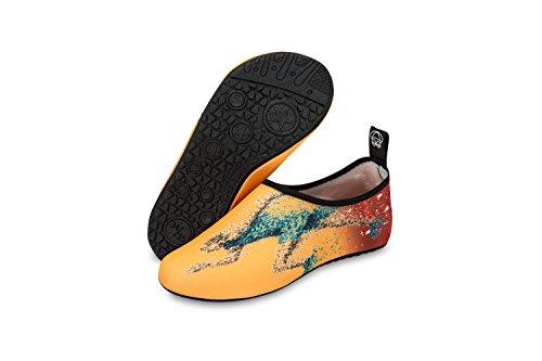 Koraman Heren Womens Stretchy Water Schoenen Sneldrogend Op Blote Voeten Anti-slip Aqua Sokken Voor Zwemmen Strand Yoga Hardlopen