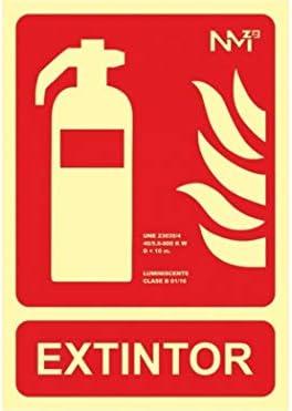 Cartel extintor homologado