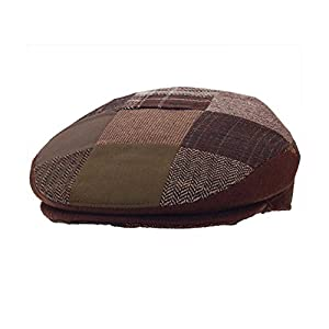 DelMonico Ivy Style Patchwork Cap-BrownPatch-L