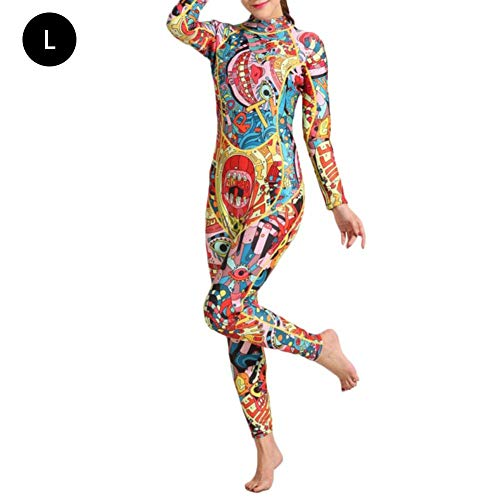 Full Body Long Sleeved - Bulary Snorkeling Suit 3mm Diving Suit Female Warm Surf Clothing Long-Sleeved One-Piece Sunscreen Ethnic Style