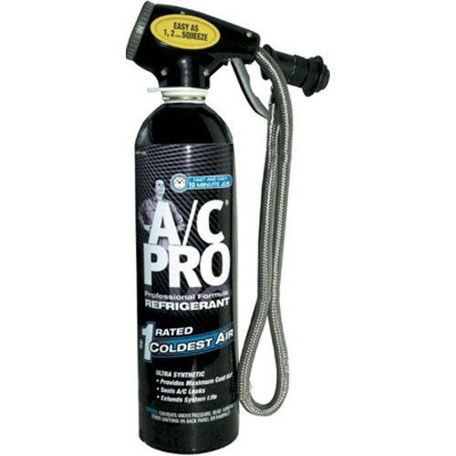 A/C PRO ACP-100 Professional Formula R-134a Ultra Synthetic Air Conditioning Refrigerant with Reusable Dispenser and Gauge - 20 oz.