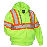 Forcefield Canada Deluxe Safety Hoodie - LIME - 2X-LARGE