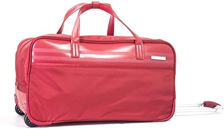 Calvin Klein Greenwich 2.0 Wheeled Duffle, Red, One Size
