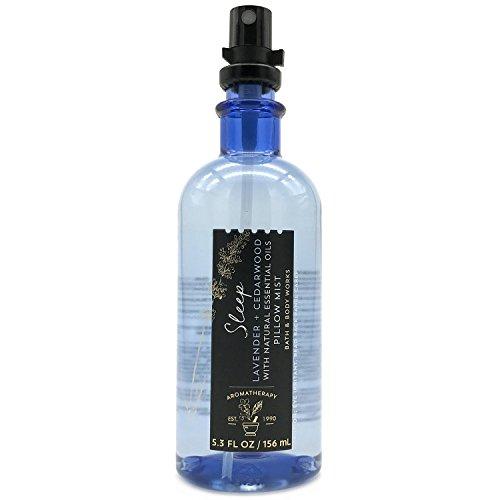Bath and Body Works Aromatherapy Pillow Mist with Natural Essential Oils (Sleep, Lavender + Cedarwood) (Bath Mist Oil)