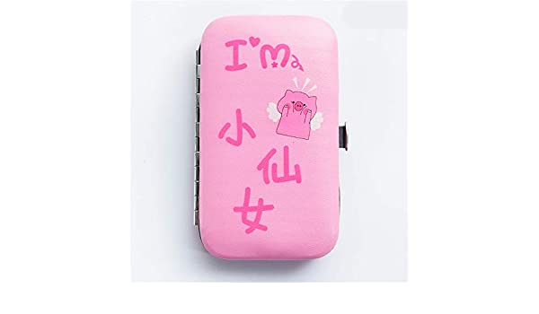 NNNQO Cute Pedicure Manicure Set Limpiauñas Limpiador De Cutículas Estuche del Kit De Aseo,Uñas Uñas del Pie para Mujeres Y Hombres Kit De Recorte De Uñas Resistente: Amazon.es: Hogar