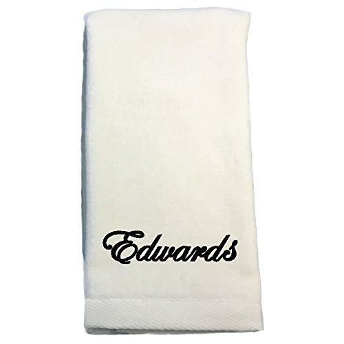 Monogrammed Personalized Hand Towels (Cream) (Towel Hand Monogrammed)